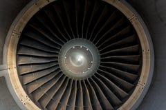 Lâminas de um close-up do motor de aviões Curso e conceito aeroespacial foto de stock