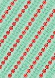 Lâminas e joaninha verdes Imagens de Stock Royalty Free