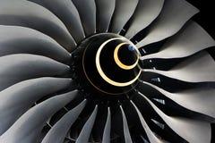 Lâminas Jet Engine do turbocompressor imagens de stock royalty free