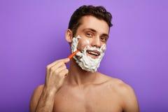 Lâminas que fornece uma barbeação agradável, lisa fotografia de stock royalty free