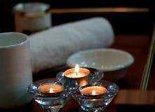 lâmpada acessória do aroma dos termas foto de stock royalty free