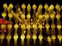 Lâmpada amarela Foto de Stock Royalty Free
