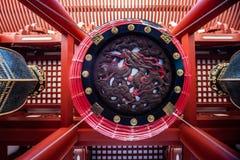 Lâmpada Asakusa Schrein do dragão, Tóquio imagens de stock royalty free