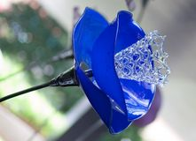 Lâmpada azul de cristal Imagem de Stock Royalty Free