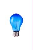 Lâmpada azul velha (quebrada) Imagem de Stock
