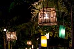 Lâmpada bonita da gaiola de pássaro Fotografia de Stock