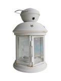 Lâmpada branca da vela no fundo branco com o trajeto de grampeamento SE Fotografia de Stock