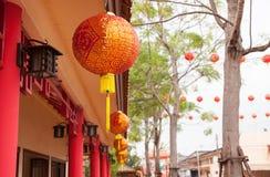 Lâmpada chinesa vermelha Foto de Stock Royalty Free