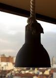 Lâmpada com corda Fotografia de Stock Royalty Free