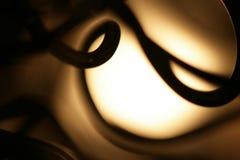 Lâmpada com detalhes do fio Fotografia de Stock Royalty Free