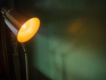 Lâmpada com luz - laranja Imagem de Stock
