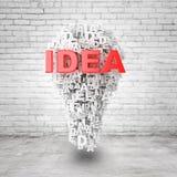 lâmpada 3d Imagens de Stock
