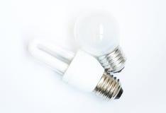 Lâmpada da economia de energia Fotografia de Stock Royalty Free
