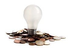 Lâmpada da economia de energia Foto de Stock