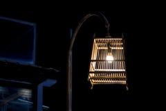 Lâmpada da gaiola de pássaro Fotografia de Stock Royalty Free