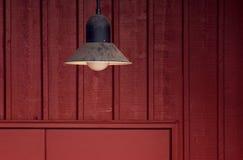 Lâmpada da porta de celeiro Imagem de Stock Royalty Free