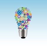 lâmpada das engrenagens Foto de Stock