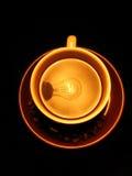Lâmpada das grões do copo de café Imagens de Stock Royalty Free