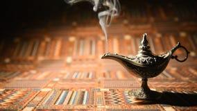 Lâmpada de óleo de Aladdin video estoque