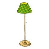 Lâmpada de assoalho verde isolada no fundo branco Imagem de Stock Royalty Free