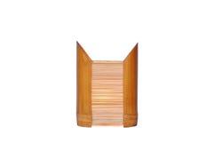 Lâmpada de bambu isolada Foto de Stock