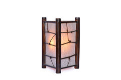 Lâmpada de bambu isolada Imagens de Stock Royalty Free