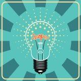 Lâmpada de brilho com esperança emocional do sinal para dentro Fotos de Stock Royalty Free