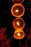 Lâmpada de flutuação da monge tailandesa. Imagem de Stock Royalty Free