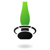 Lâmpada de gás verde Fotografia de Stock Royalty Free