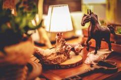 lâmpada de madeira Imagem de Stock