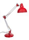 Lâmpada de mesa vermelha imagem de stock