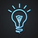 Lâmpada de néon Vetor Fotos de Stock Royalty Free