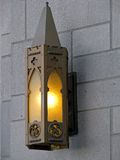 Lâmpada de parede exterior fotos de stock royalty free