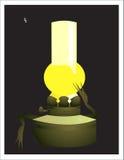 Lâmpada de petróleo ilustração stock