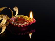 Lâmpada de petróleo de Diwali Imagens de Stock