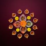 Lâmpada de petróleo de Diwali Foto de Stock Royalty Free