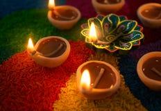 Lâmpada de petróleo de Diwali fotografia de stock royalty free