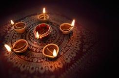 Lâmpada de petróleo de Diwali Foto de Stock