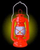Lâmpada de petróleo vermelha ardente Imagem de Stock Royalty Free
