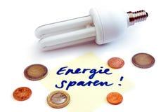 Lâmpada de poupança de energia Fotografia de Stock