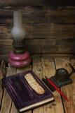 Lâmpada de querosene do vintage Fotografia de Stock Royalty Free