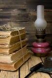 Lâmpada de querosene do vintage Fotografia de Stock