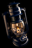 Lâmpada de querosene Illuminating Fotos de Stock Royalty Free