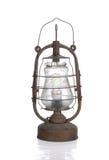 A lâmpada de querosene suja velha com bulbo moderno fotografia de stock royalty free