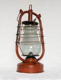Lâmpada de querosene vermelha velha Foto de Stock Royalty Free