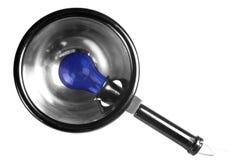 Lâmpada de refletor azul imagem de stock royalty free
