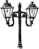 Lâmpada de rua antiga ilustração stock