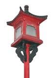 Lâmpada de rua do chinês tradicional isolada no fundo branco Imagem de Stock Royalty Free