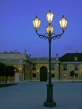 Lâmpada de rua e palácio de Schoenbrunn, Viena Fotografia de Stock Royalty Free