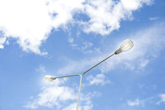 Lâmpada de rua elétrica Imagens de Stock
